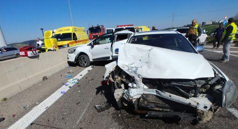 3 إصابات بينها بالغة لمسنة بحادث قرب الزرازير