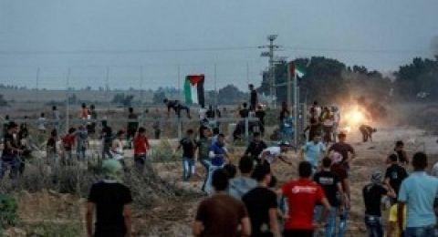 إصابات بالرصاص الحي والاختناق في قطاع غزة