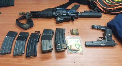 تل السبع: اعتقال 9 مشتبهين بعد العثور على اسلحة متنوعة