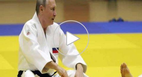 بوتين يتعرض لإصابة من امرأة أثناء تدريب في الجودو!