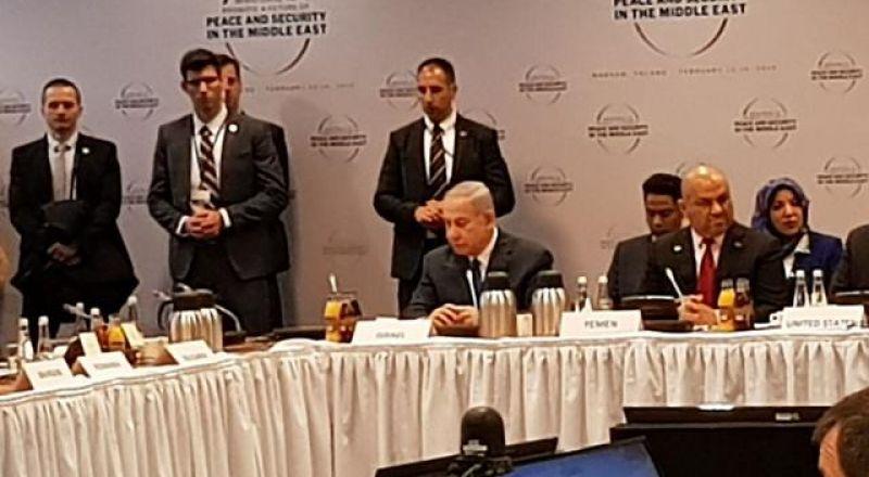 نتنياهو يلتقي وفودًا خليجية في مؤتمر وارسو