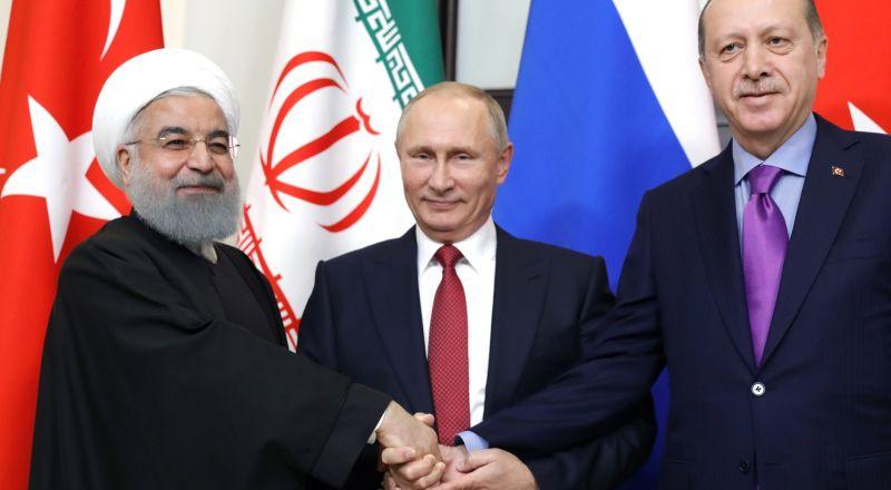 قمة روسية إيرانية تركية في سوتشي.. وموسكو ترفض بقاء جيوب إرهابية في شمال سوريا