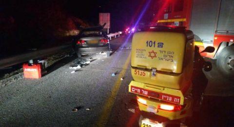 صفد: اصابة 6 اشخاص بجراح خطيرة ومتوسطة في حادث طرق مروع