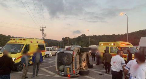 شعب: حادث طرق صعب و5 اصابات