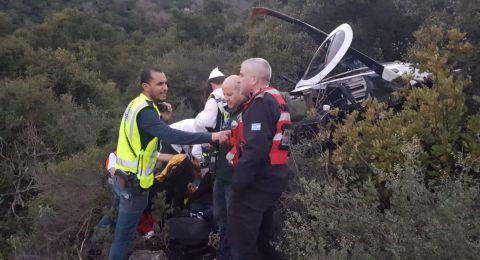 تحطم طائرة مروحية على جبل الجرمق في الشمال