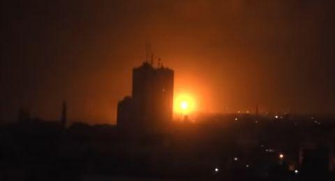 غارات اسرائيلية على غزة فجر اليوم واصابة مواطن