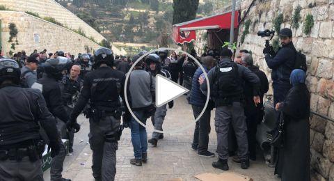الشرطة نعلن اعادة فتح ابواب الأقصى