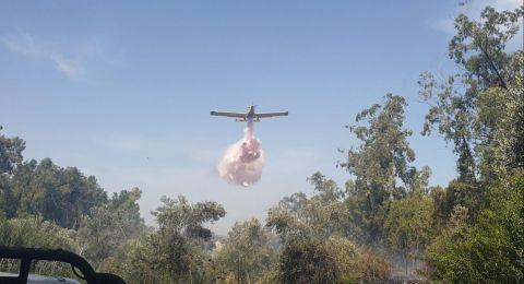 وادي عارة: اخماد حريق بمنطقة الاحراش