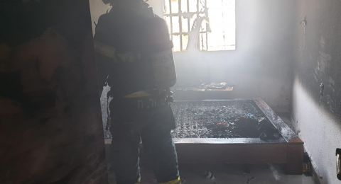 حيفا: احتراق فرشة داخل غرفة نوم بشقة سكنية كاد أن يؤدي الى كارثة
