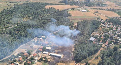 القدس: اندلاع حريق في