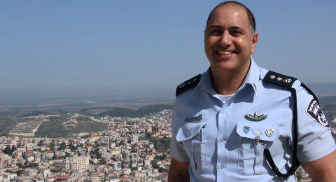 الضابط نير يونا ينهي مهمته كقائد لمركز شرطة ام الفحم التي دامت ثلاث سنوات