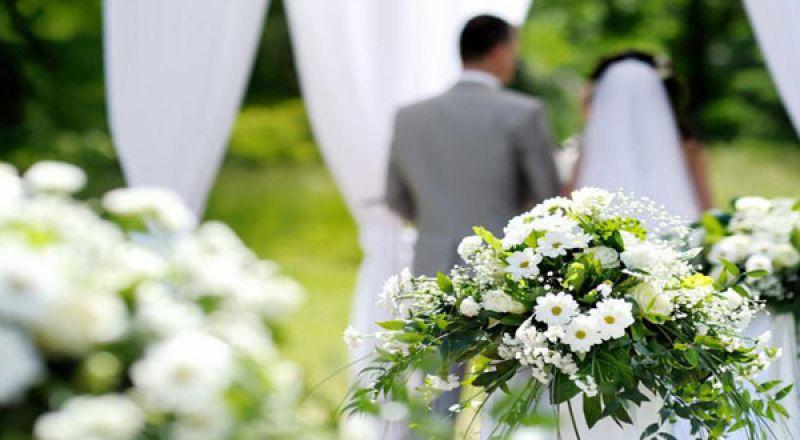 ديكورات حفل الزفاف النهاري
