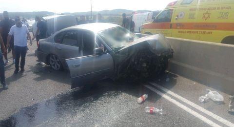 6 إصابات بينها خطيرة بحادث طرق مروع قرب العفولة