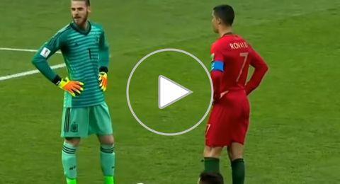 ملخص أهداف مباراة المنختبين الاسباني والبرتغالي