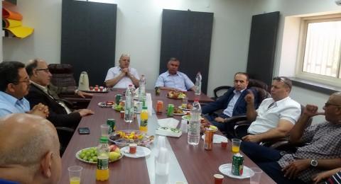 وفد من السلطة الفلسطينية يجتمع برؤساء سلطات محلية في منطقة مرج ابن عامر، بدبورية