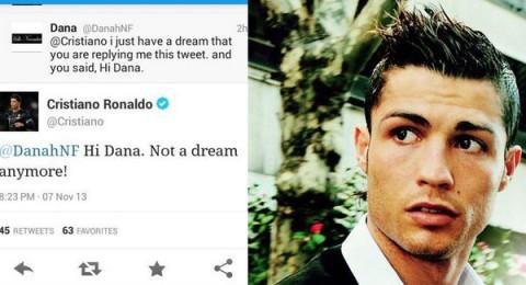 رونالدو يرد على فتاة سعودية في تويتر: لم يعد حلماً الآن