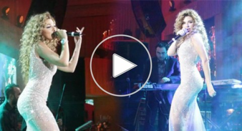 ميريام فارس تلهب مسرح موسكو