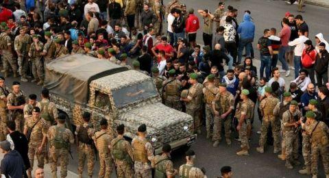 الجيش اللبناني ينتشر على طريق القصر الجمهوري تحسبا لأي طارئ
