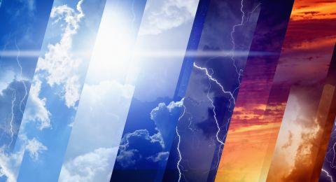 الطقس: انخفاض ملموس وأمطار متفرقة