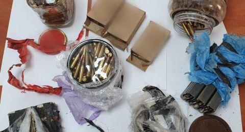 العثور على اسلحة وذخائر في عبلين وديرحنا