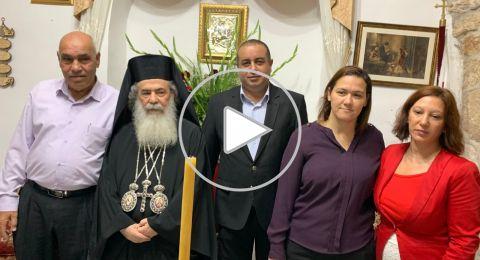 اللد: أبناء الطائفة الأرثوذكسية يحتفلون بعيد القديس جوارجيوس
