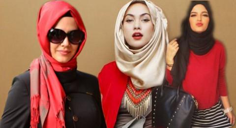 الأحمر مع الحجاب... أناقة أم مبالغة؟