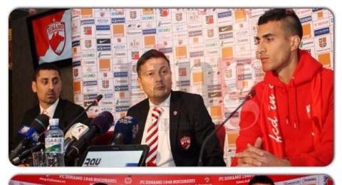 رفيد بوخارست يعرض لاعبه الجديد حاتم عبد الحميد من خلال مؤتمر صحفي
