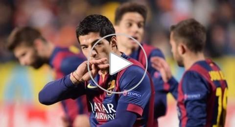 نيمار يتعرض للعنف من قبل لاعبي اتلتيكو مدريد