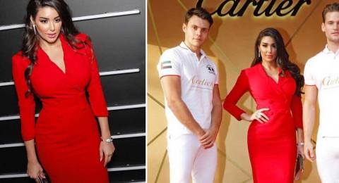 """ياسمين صبري تخطف الأنظار بفستان أحمر في حفل """"كارتييه"""""""