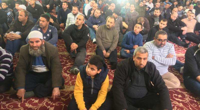 البذل والعطاء خطبة الجمعة بجامع عمر المختار يافة الناصرة