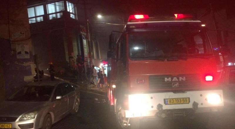 اندلاع حريق ببناية سكنية في الناصرة بدون اصابات