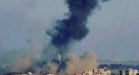 اسرائيل تقصف اهدافًا في قطاع غزة