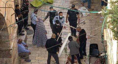 القدس : الشرطة الاسرائيلية تفرض غرامات مالية على أصحاب البسطات بالبلدة القديمة