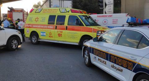 إصابة حرجة لرجل بحادث طرق في العفولة