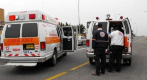 النقب: حادث مع دورية شرطة واصابة شاب بصورة خطرة