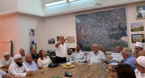 قائد سلطة الاطفاء والانقاذ بزيارة معايدة بمناسبة عيد الاضحى في شفاعمرو وحيفا