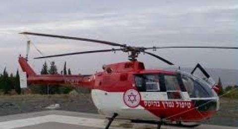 اصابة خطيرة لشاب (18 عاماً) من طوبا الزنغرية