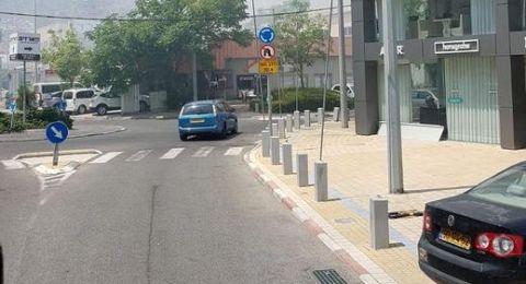 حيفا: اندلاع حريق كبير في منطقة
