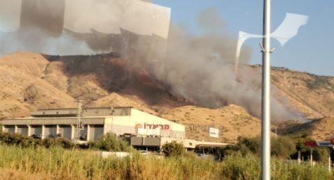 اندلاع حريق على الحدود الاسرائلية الشمالية