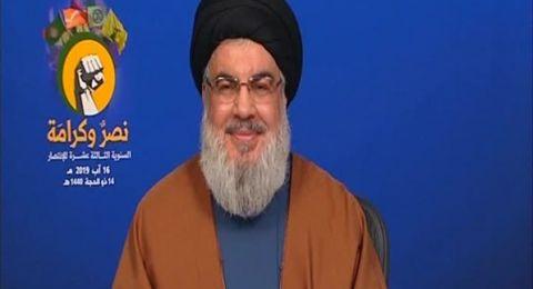 السيد نصر الله: سيحضر الإسرائيليون بثاً مباشراً لتدمير ألويتهم العسكرية إذا دخلت لبنان