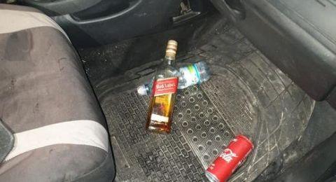 يشرب ويسكي ويقود سيارته بسرعة 184 كم/س.. اعتقال سائق من عيلوط
