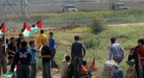اصابة 33 متظاهرا بمسيرات العودة شرق غزة