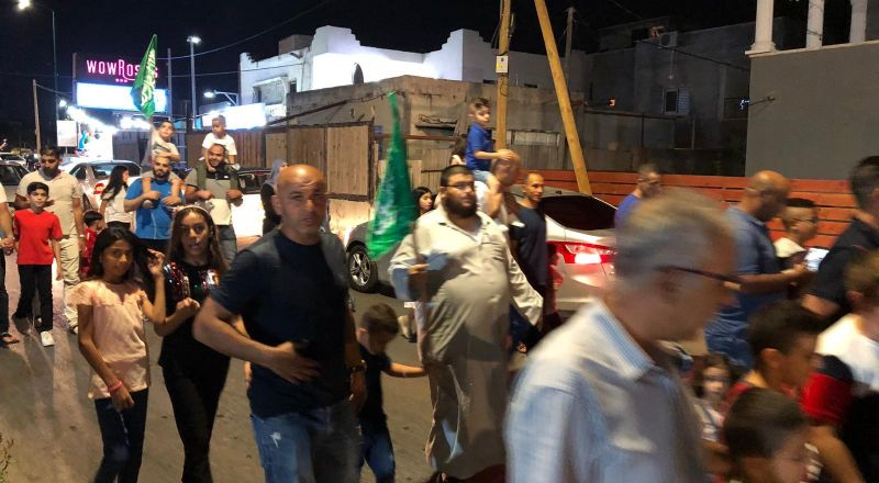 كفر قرع: مشاركة واسعة في مسيرة استقبال العيد