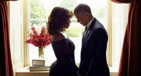 الصور الرومانسية لأوباما وزوجته التي أثارت ضجة