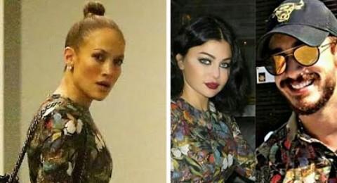 هيفاء وهبي بنفس فستان جينيفر لوبيز .. وقميص سعد لمجرد!