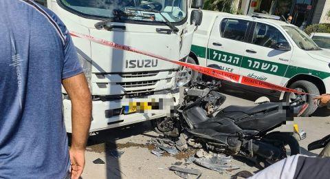 إصابة خطيرة لشاب بحادث طرق في طمرة