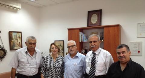 مستشفى الانجليزي يستقبل لجنة نقابة الاطباء - فرع الناصرة