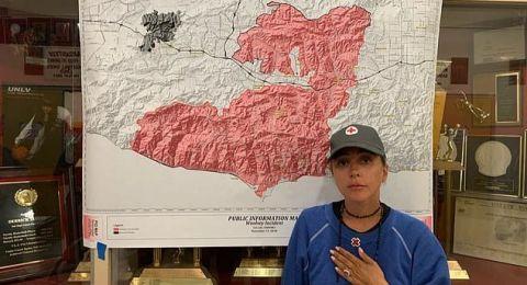 ليدي جاجا تقدم البيتزا والقهوة لمتضرري حرائق كاليفورنيا