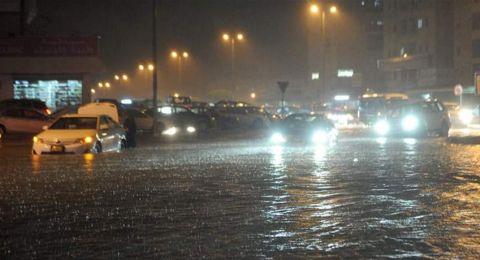 منزل نجمة خليجية يغرق في الكويت.. فيديو