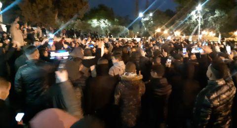 مواجهات في المسجد الأقصى بعد محاولة القوات الاسرائيلية فض المشاركين في حملة النفير